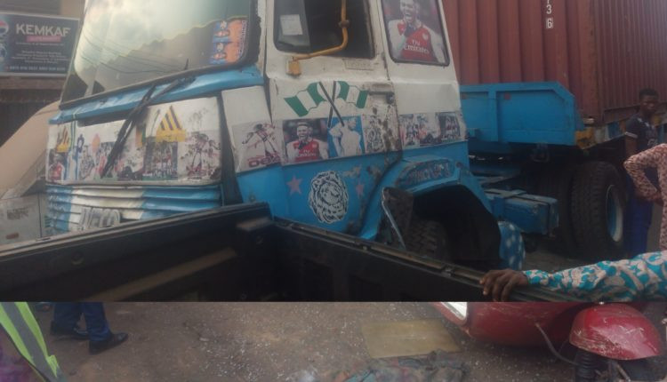 Photo: Trailer crushes woman to death in Ibadan
