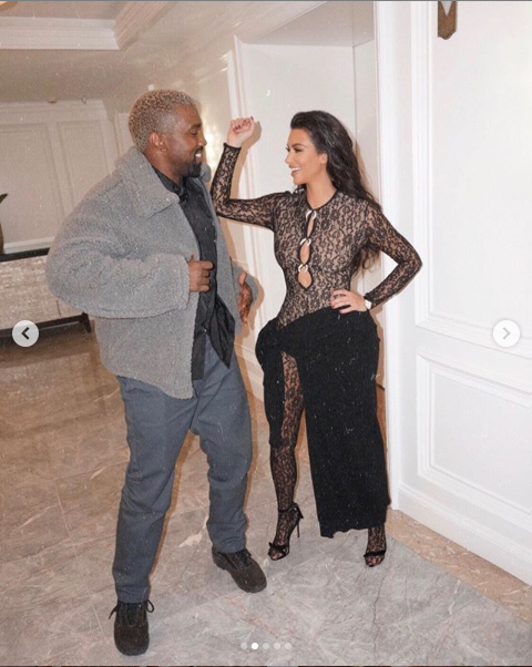 Kim Kardashian and Kanye West are looking all loved up in new photos