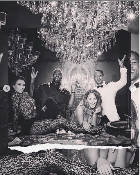 Kim Kardashian and her husband Kanye West goof around in new photos