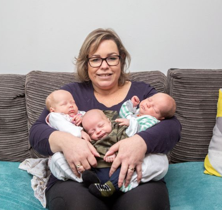 Mum falls pregnant via IVF then discovers she was already pregnant with twins, leaving her with 3 babies