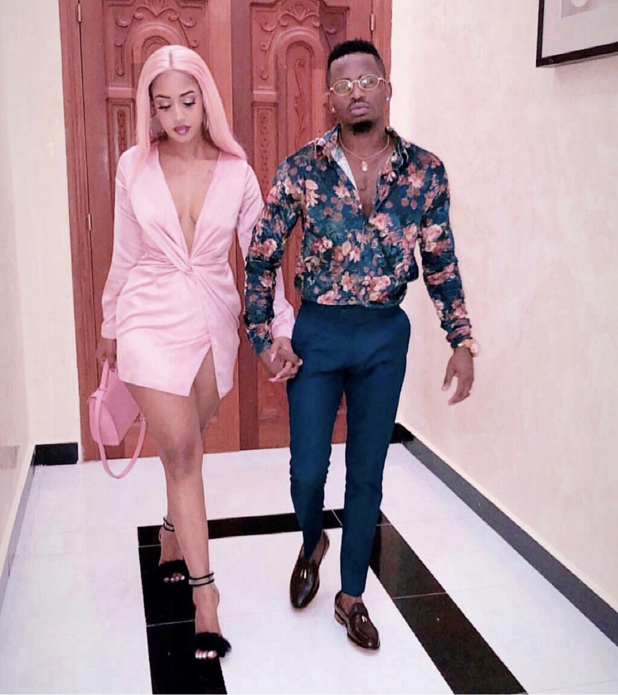 Photos: Diamond Platnumz and his fiancee Tanasha step out in style ahead of their February 14th wedding