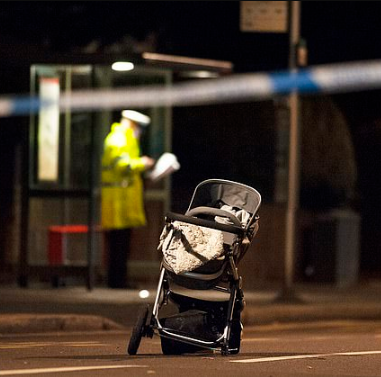 Sad! 8-month-old baby dies in hospital one week after his pram was hit by a car that killed his mother and narrowly missed his father