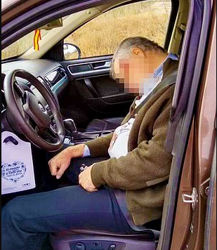 Graphic photos of Mexican billionaire businessman found dead in his car from suspected suicide