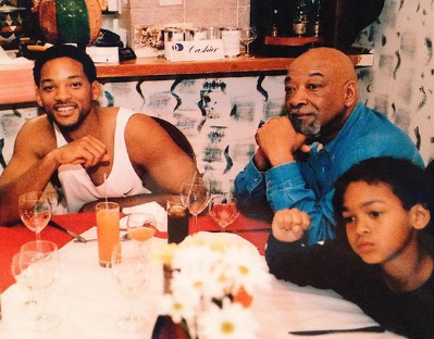 Three generations of handsomeness! Lovely throwback photo of Will Smith, his dad and son