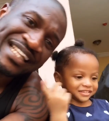 Peter Okoye recreates adorable video of himself and his daughter Aliona to wish her a happy birthday