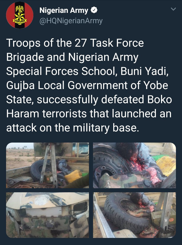 Troops repel Boko Haram attack on army base (graphic photos)