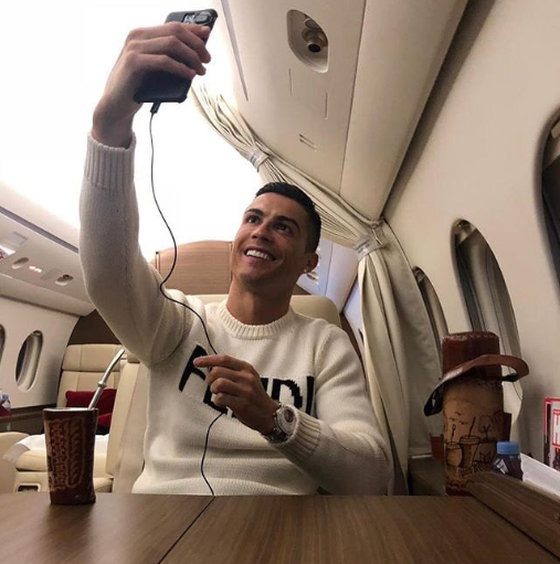 Cristiano Ronaldo criticized for posting private jet selfie while plane carrying Emiliano Sala is still missing