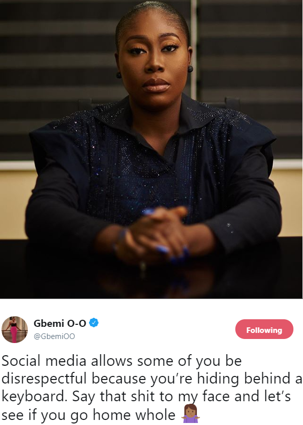 Gbemi Olateru Olagbegi has a word for internet trolls