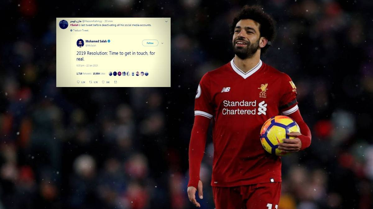 """African best footballer Mohamed Salah disappears from social media after posting: """"2019 Resolution: Time to get in touch, for real"""""""