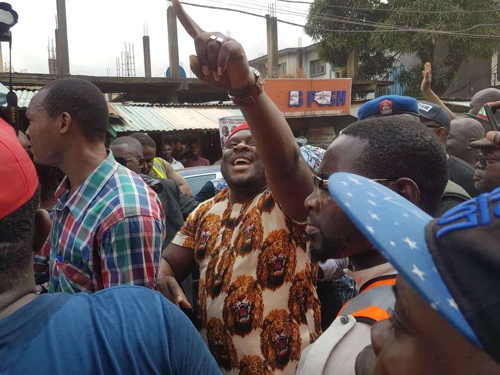 Photos/Video: Peter Obi shuts down Ladipo, Computer Village, Festac, others at short notice