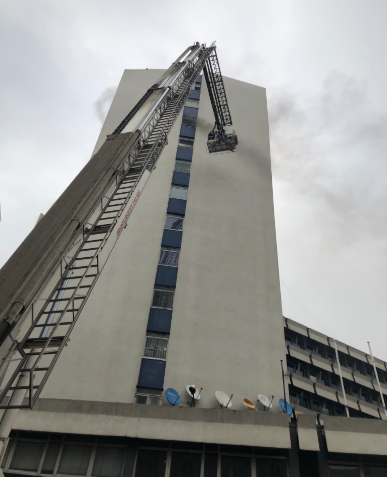 UAC building in Lagos Island is currently on fire (photos/video)