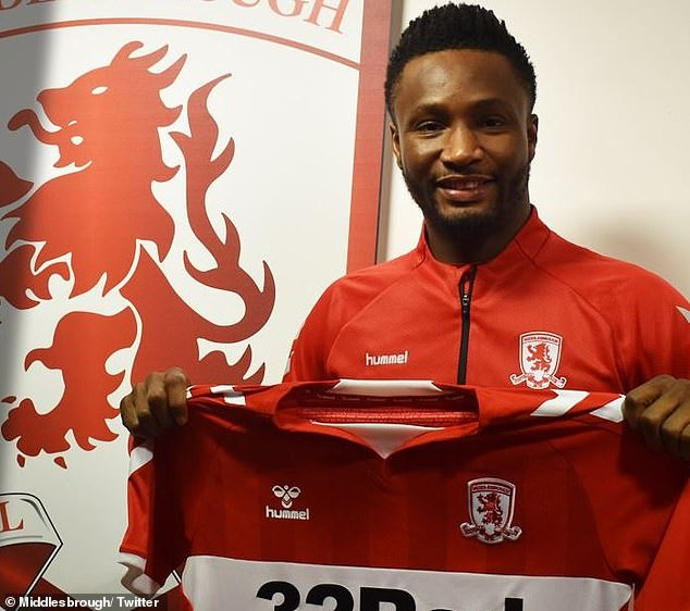 Super Eagles captain Mikel Obi joins championship club Middlesbrough until end of season?