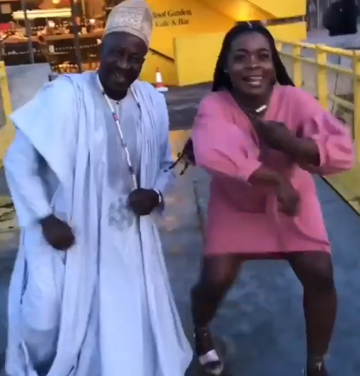 Trending video of Nigerian lady and her parents dancing at her graduation