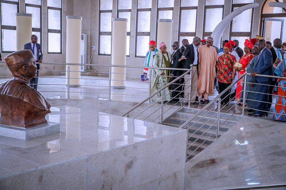 Photos: President Buhari Commissions Zik Mausoleum In Anambra ...