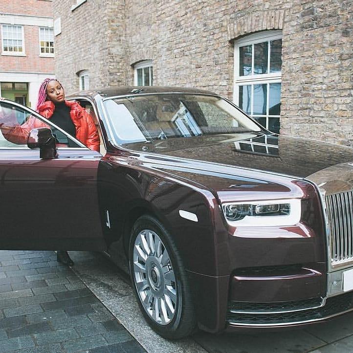 DJ Cuppy gets a Rolls Royce phantom (photos)