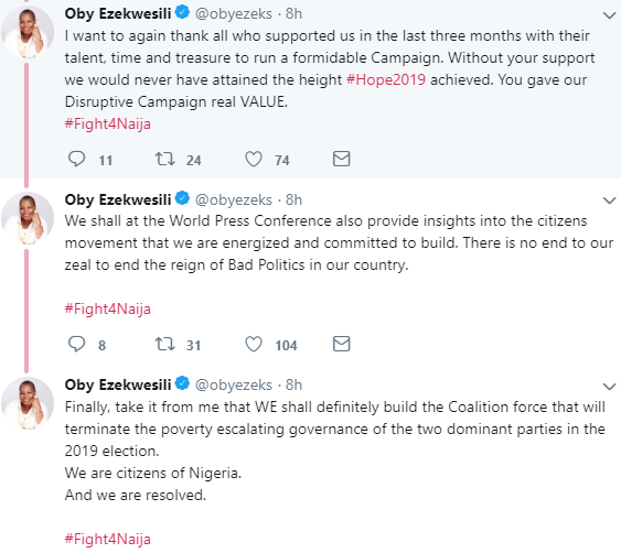 Oby Ezekwesili drags former party ACPN following wide allegations against her