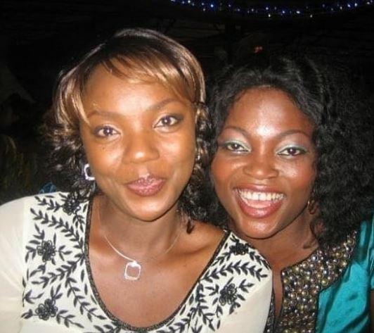 Throwback photo of Chioma Chukwuka and Funke Akindele