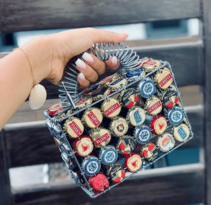 Will you rock this purse made from the crown cork of soft drinks?