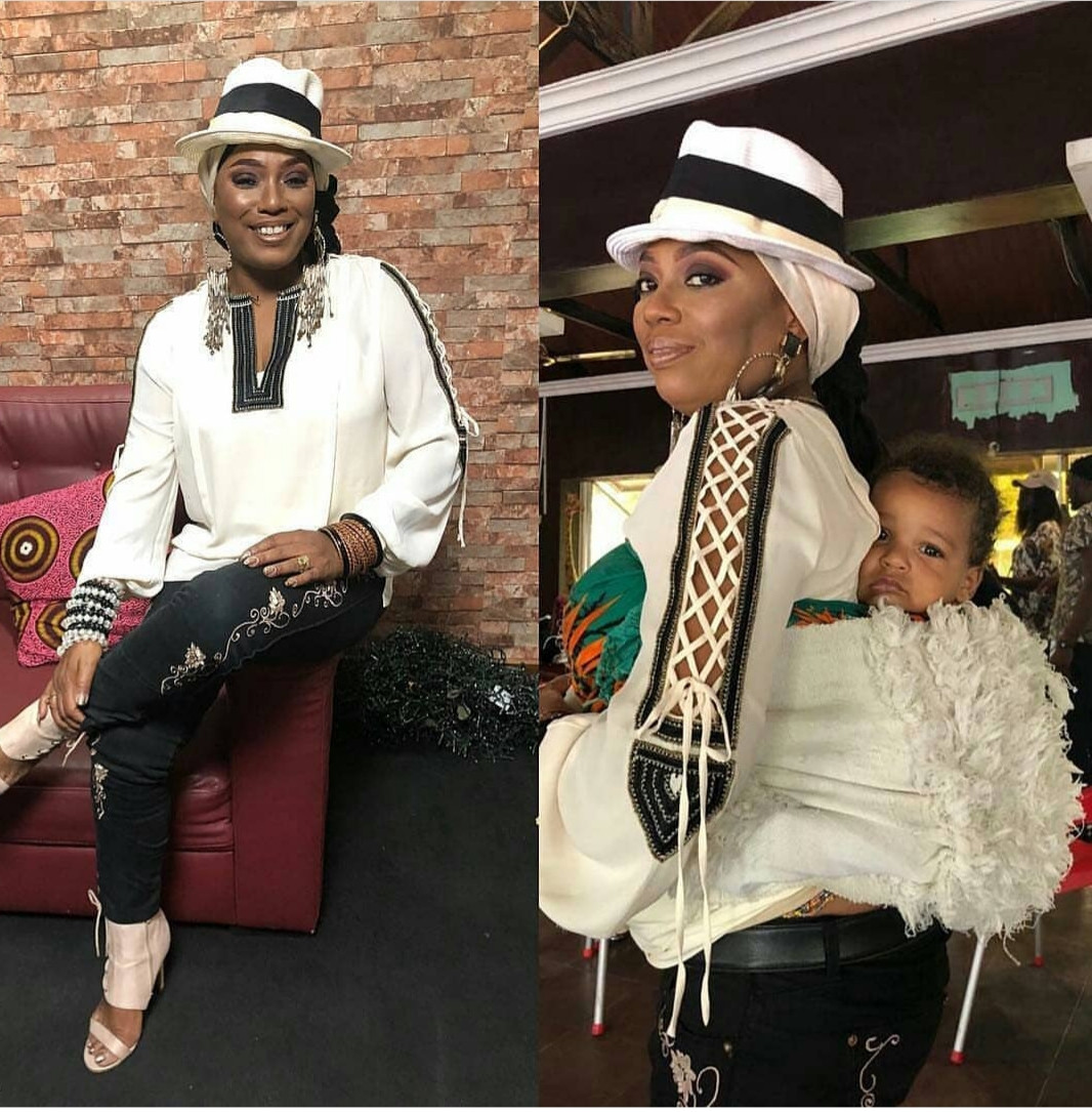 Yeni Kuti shares photo of her grandchild