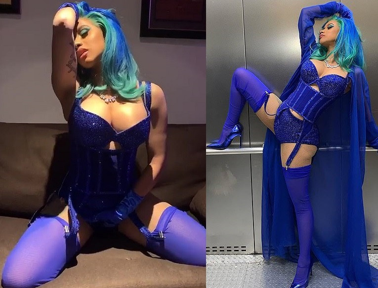 See the very racy lingerie Cardi B wore to Pornstars award as she calls herself