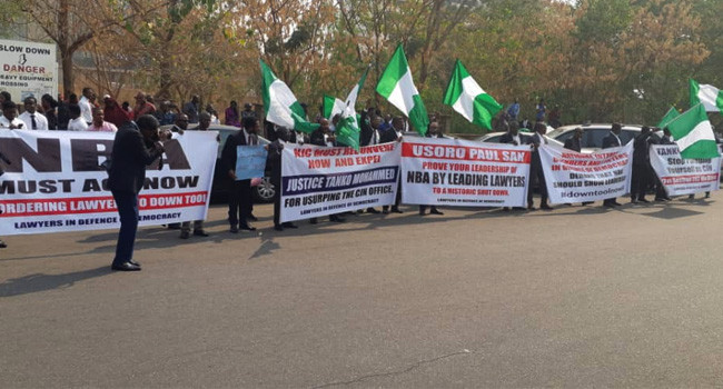 Protests at NBA secretariat over Onnoghen