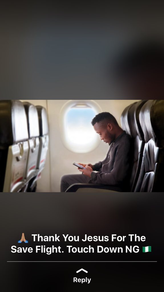 Nigerian singer busted after posting photoshopped pic of himself in a plane on social media