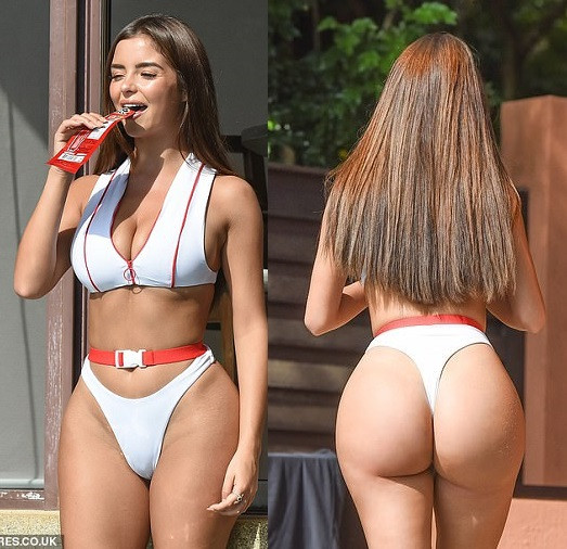 Demi Rose flaunts her killer curves in sporty white bikini during idyllic Thailand break (Photos)