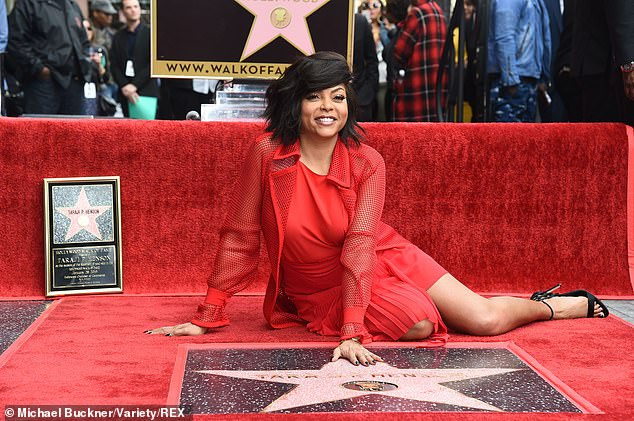 Taraji P. Henson pack on the PDA with her fiancee Kelvin Hayden as she is honoured with a star on the Hollywood Walk-Of-Fame (Photos)