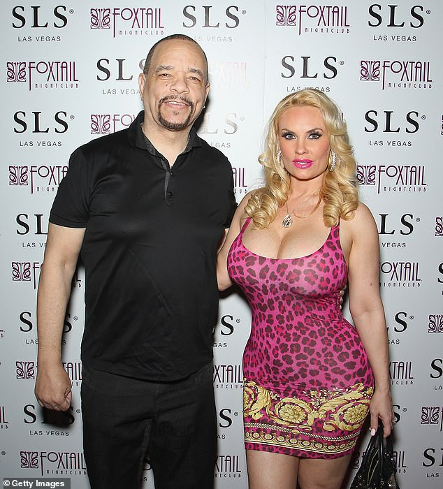Rapper Ice-T shares topless photo of his wife Coco Austin in bed as she sleeps next to their daughter and dog (See photo)
