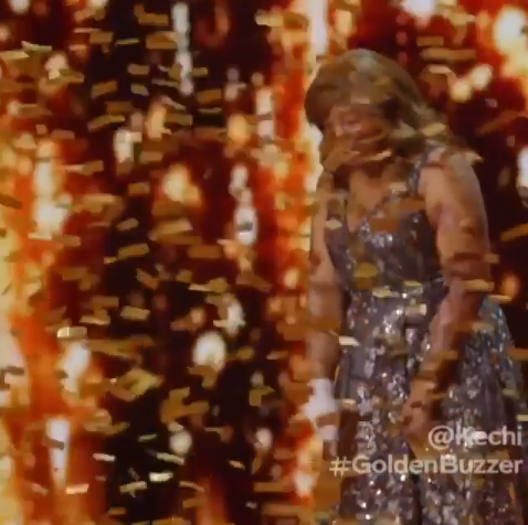 Emotional moment Nigerian plane crash survivor Kechi Okwuchi wins Golden Buzzer at