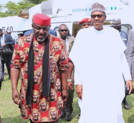 Video: Amidst State APC crisis, President Buhari supports Okorocha, tells people to vote across parties