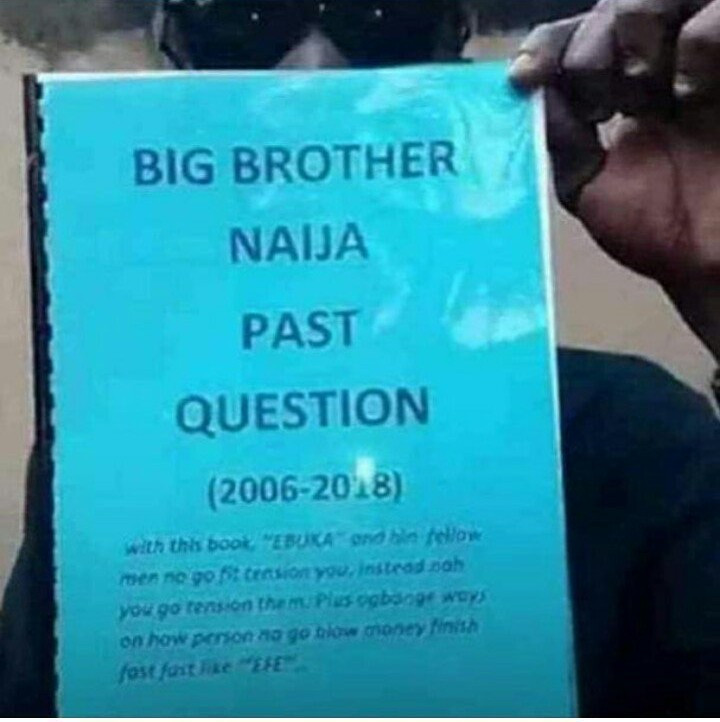 Big Brother Nigeria past questions are being sold in traffic