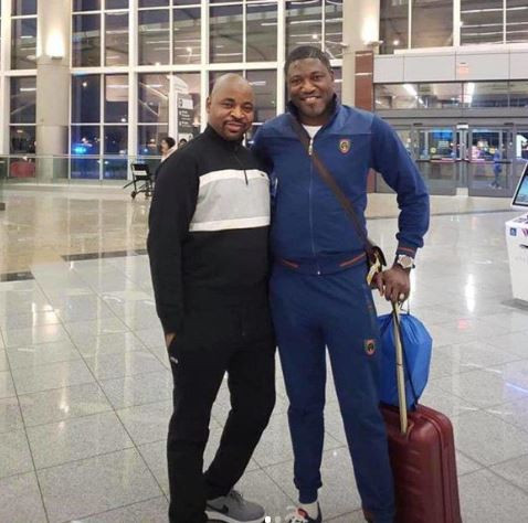 MC Oluomo returns to Nigeria after medical treatment in the US