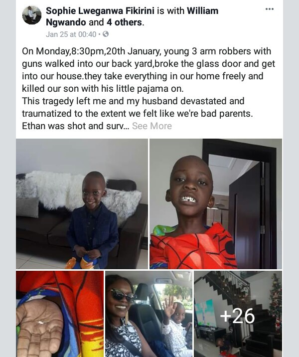 """3 armed robbers broke into our house, took everything and killed our son with his little pajama on"" - Woman shares heartbreaking story"