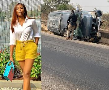 Media personality, Bolanle Olukanni, survives near-fatal accident (photo)