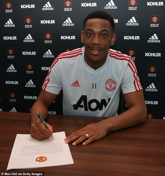Anthony Martial commits his future to Man.U by signing new five-and-a-half-year contract worth ?200,000 a week
