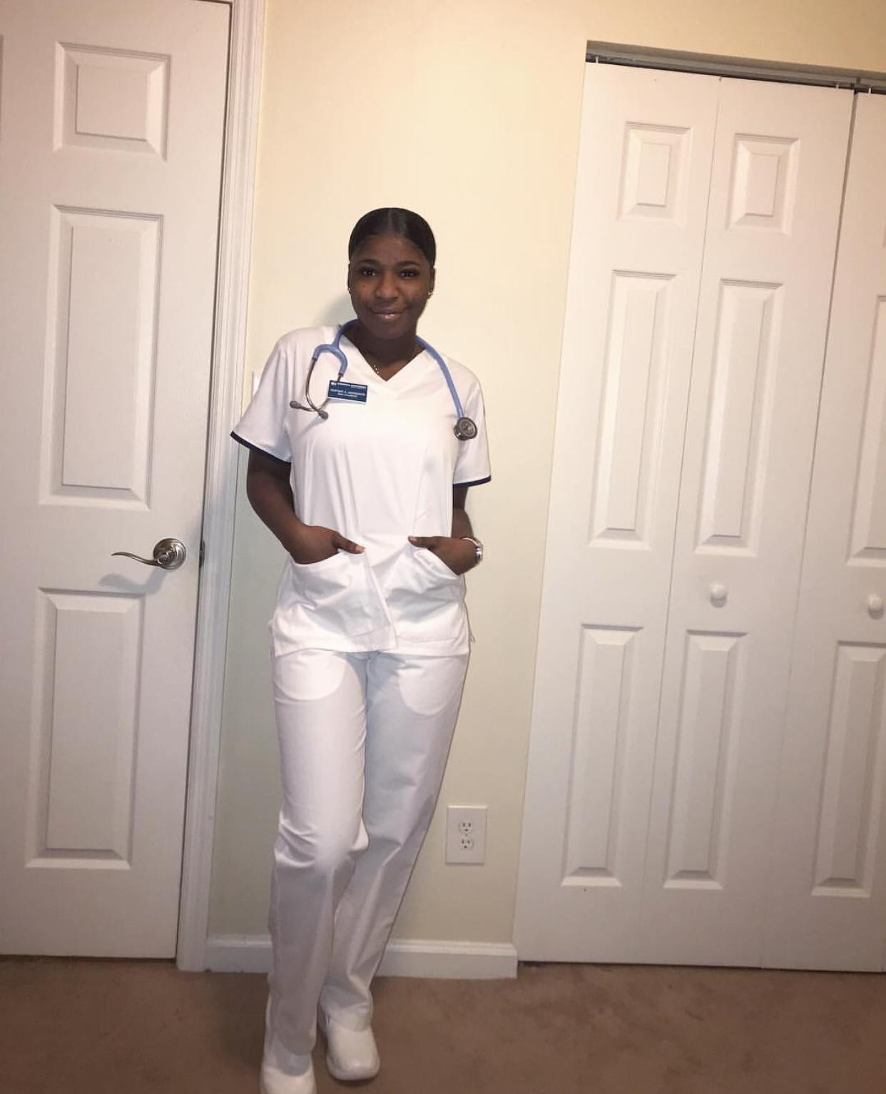 Photos: MC Oluomo?s daughter shares photos as she enrolls into a nursing college in the US