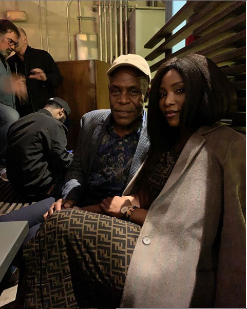 Genevieve Nnaji hangs out with Danny Glover, Actress Genevieve Nnaji hangs out with Hollywood actor Danny Glover in LA (Photo)