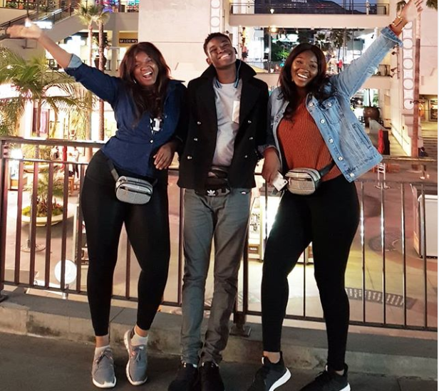 Actress Omotola Jalade-Ekeinde poses with two of her children in adorable new photo