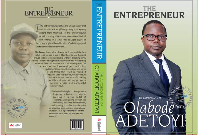 "To Become A Finesse And  Purposeful Entrepreneur, Grab A Copy Of ""THE ENTREPRENEUR."" Newly Launched Entrepreneurial Handbook"