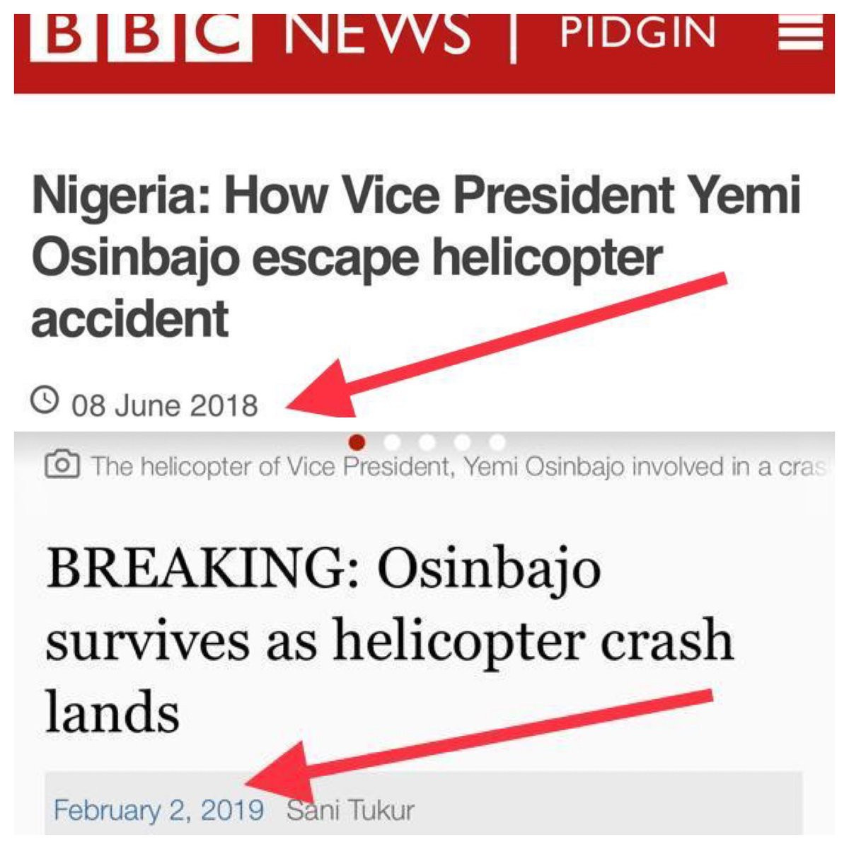 ''You better watch your back'' - Reno Omokri tells VP Osinbajo after surviving a second air mishap in eight months