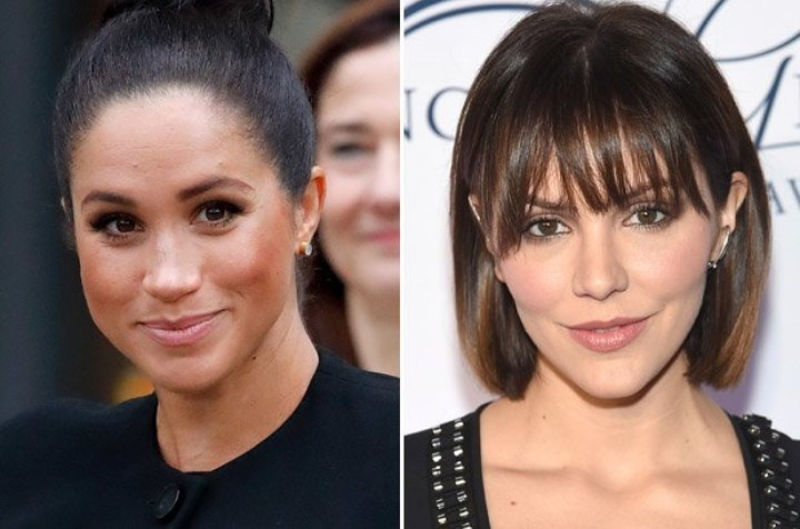 Katharine McPhee slams Perez Hilton after he shared before and now photos of her and Meghan Markle and suggested they had cosmetic surgery