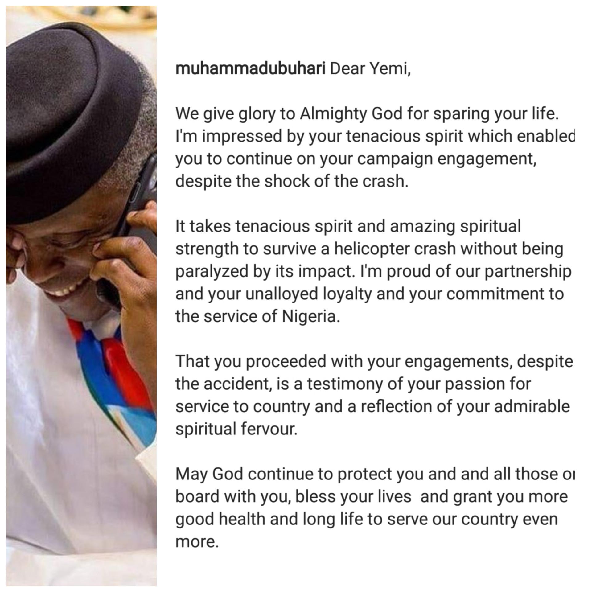 Read President Buhari