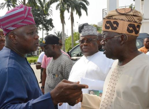 Photos: Tinubu presides over peace meeting between?Governor?Ambode and Lagos Assembly members, says