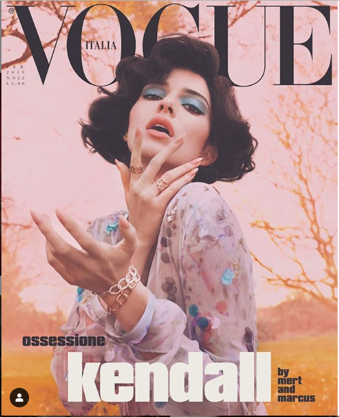 Kendall Jenner strips completely naked ?for racy Italian Vogue shoot (+18 photos)