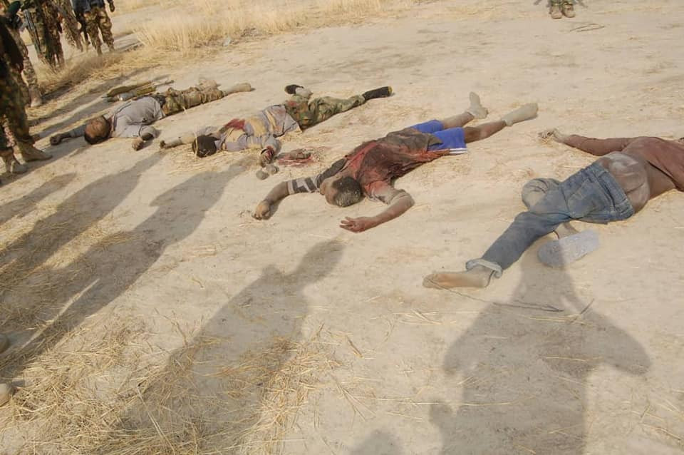 Graphic Photos: Nigerian Army neutralizes several Boko Haram terrorists in latest attack