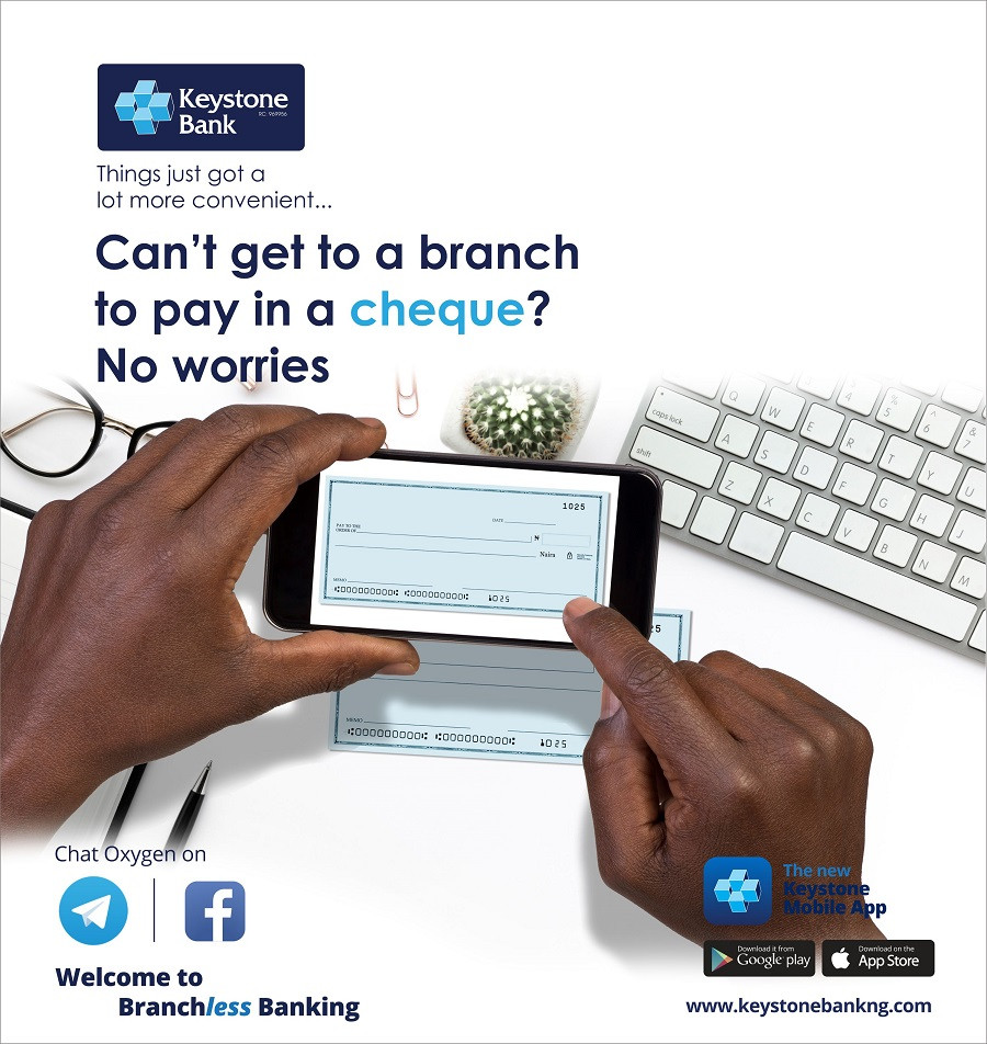 Keystone Bank introduces first ?Cheque Deposit? in mobile app in Nigeria