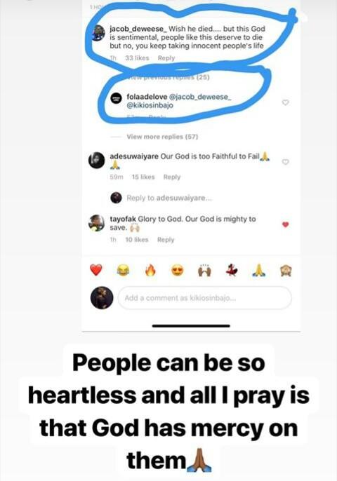 """""""I pray that God have mercy on them"""" - Kiki Osinbajo prays for"""
