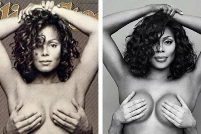 Transgender Laverne Cox goes topless as she channels Janet Jackson for Janet Jackson Appreciation Day