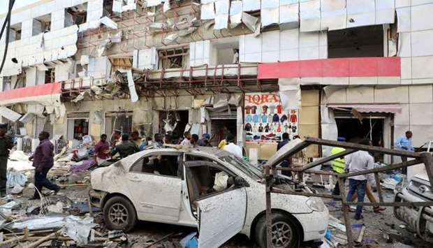 bomb explodes near shopping mall in Mogadishu, Somalia, 11 killed, several injured as car bomb explodes near shopping mall in Mogadishu, Somalia